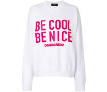 "Sweatshirt mit ""Be Cool Be Nice""-Print"