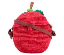 Gehäkelte Umhängetasche in Apfel-Form