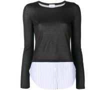 Pullover mit Hemdsaum