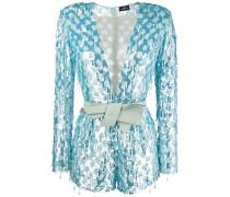V-neck sequin dress