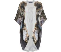 Seidenrobe im Kimono-Look