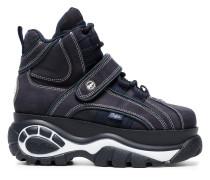 Blue Classic nubuck flatform sneakers