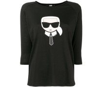 'Karl Ikonik' T-Shirt mit Dreiviertelarm
