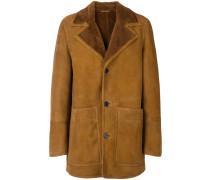 Shearling-Jacke mit Taschen