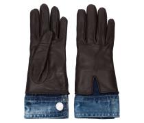 Handschuhe mit Jeanssaum