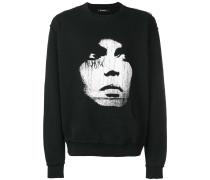 Sweatshirt mit Gesichter-Print