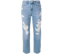 slim fit cropped jeans