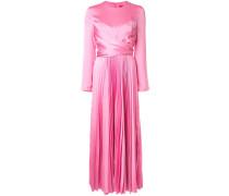 Langes Kleid mit Plissee