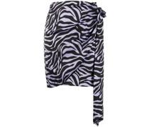 Wickelrock mit Zebra-Print