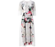 laser cut floral dress