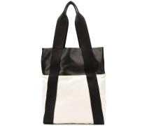 Handtasche mit Lederdetails