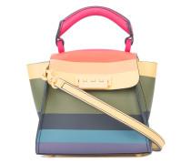 striped design mini bag
