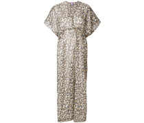 leopard print beach dress
