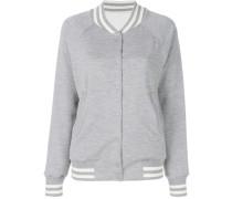 reversible knit bomber jacket