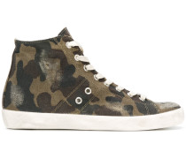 camouflage hi-top sneakers