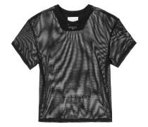 mesh slogan T-shirt