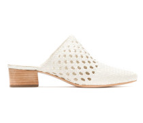 pointed toe leather mules
