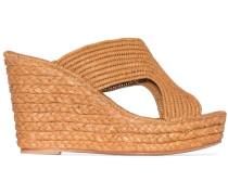 'Lina 50' Wedge-Sandalen aus Bast