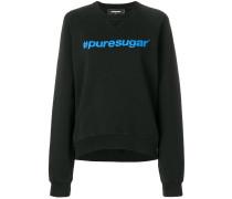 """Sweatshirt mit """"#puresugar""""-Print"""