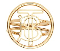 Vergoldeter Ring mit Monogramm
