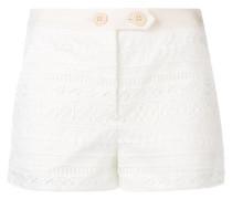 crocheted pattern short shorts