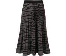 zebra print pleated skirt