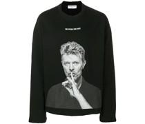 Sweatshirt mit David Bowie-Print