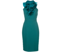 ruffle trim pencil dress