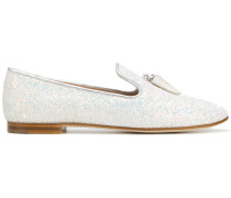 'Spacey' Loafer mit Glitzereffekt