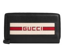 stripe zip-around wallet