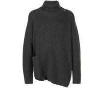 Asymmetrischer Oversized-Pullover