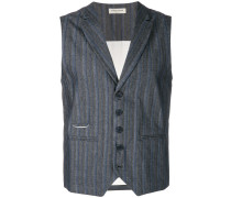 striped fitted waistcoat