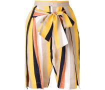 Flip tie waist shorts