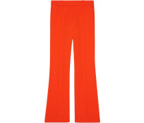 Viscose bootcut trousers