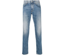 Gerade Stone-Washed-Jeans