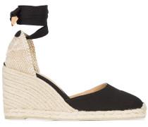 wedge heel espadrllles with ankle ribbon