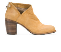 cut-out detail zip ankle boots