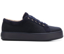textured low top sneakers