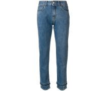 Jeans mit doppeltem Saum