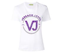 T-Shirt mit Strass-Logo