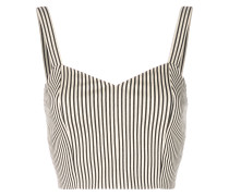 striped bralette top