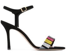 Sandalen mit Glitter-Streifen