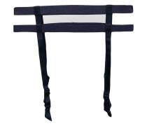 Audacieuse bow-embellished suspenders belt