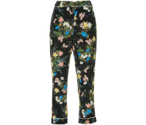 Florale Cropped-Hose