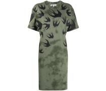 swallow-print T-shirt dress