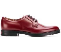 Derby-Schuhe mit Kontrastpaspeln