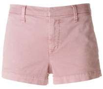concealed front denim shorts