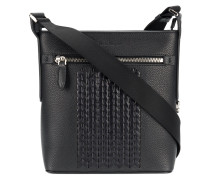 woven textured tote bag