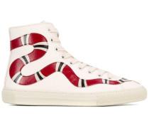 High-Top-Sneakers mit Schlangenmotiv