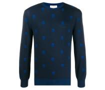 Jacquard-Pullover mit Totenköpfen